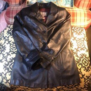 Wilson's black leather jacket